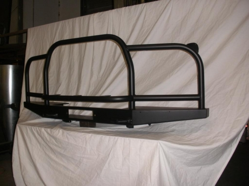 Midface front bumper with full brush bar