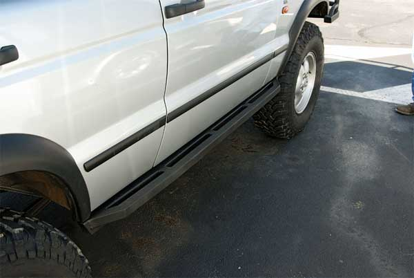LWB rock sliders with square nerf bar